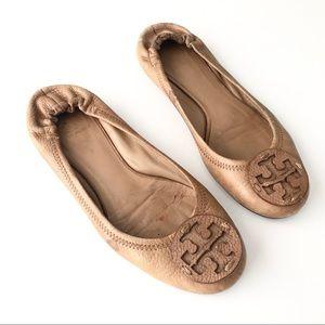 TORY BURCH Pebble Leather Reva Ballet Flats